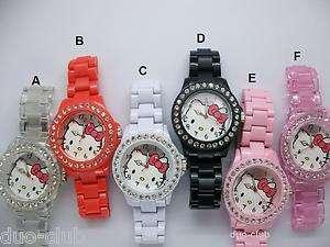 1Pcs Hellokitty Plastic Band Wrist Watch For Ladies/Girls
