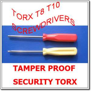 Tamper Proof Security Torx T8 T10 Screwdrivers Xbox360