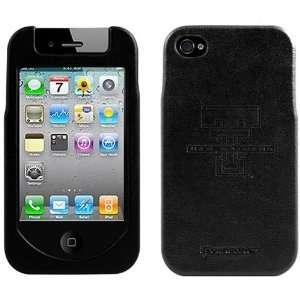 NCAA Texas Tech Red Raiders Black Team Logo Hard Leather iPhone 4 Case