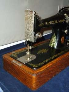 ANTIQUE SINGER SEWING MACHINE,TOP QUALITY, GOOD WORKING ORDER  CASE