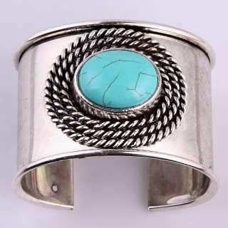 Enthnic Tibet Silver Wide Punk  Gift Bracelet