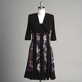 Womens Sleeveless Print Dress with Shrug  Kathy Roberts Clothing