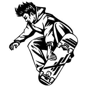 SKATEBOARDING DXF ART CNC ROUTER PLASMA  LASER ENGRAVER