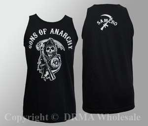 Authentic SONS OF ANARCHY Reaper Logo 2 Side Tank Top shirt S M L XL