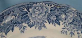 Lovely BLUE ENGLISH VILLAGE DINNER PLATE Staffordshire SALEM CHINA CO