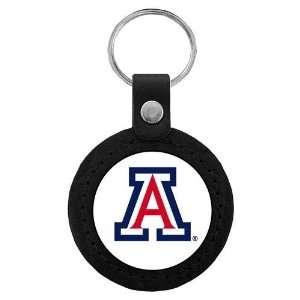Arizona Wildcats NCAA Classic Logo Leather Key Tag