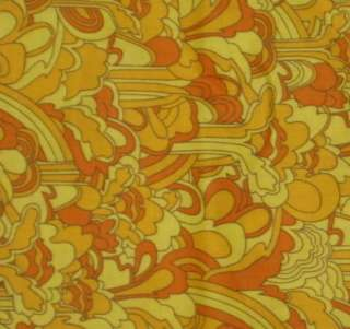 The Beatles Yellow Submarine Swirls Cotton Fabric BTY