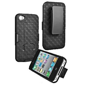 iPhone 4 4s Shell Holster Combo Kickstand Belt Clip Case Cover New OEM