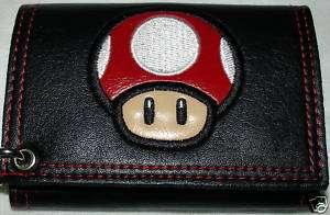 Nintendo Super Mario Power Up RED MUSHROOM Mens Wallet