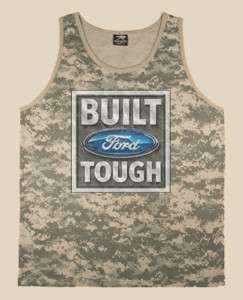 ACU Digital Camo Built Ford Tough tee shirt Tank Top