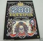 Special design 280 temporary tattoos tigers & dragons
