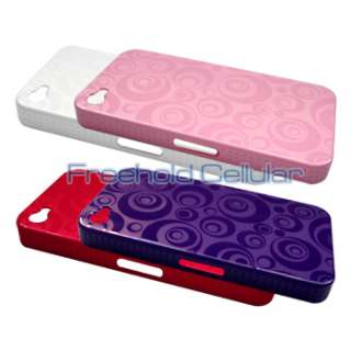 4pcs Bubbles Hard Shell Covers Cases for Apple iPhone 4S / iPhone 4