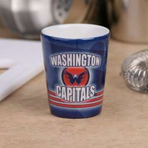 Washington Capitals Navy Blue Slapshot Ceramic Shot Glass