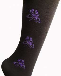 colors butterfly design over knee high leg warmers