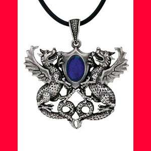 New Gothic Fantasy Dragon Rhinestone Pendant Necklace