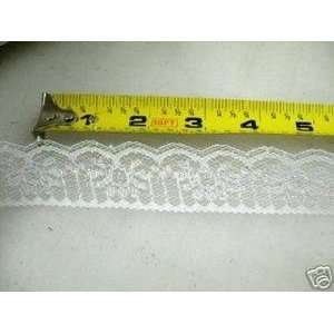 Lace Edge Trim 1 3/4 In White Iridescent Abstract LEB01