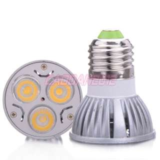 New Super Bright E27 3 LED 3W LED Warm White Light Lamp Bulb 85~240V