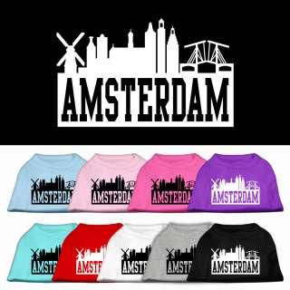 Amsterdam Skyline Pet Dog Shirt Clothes