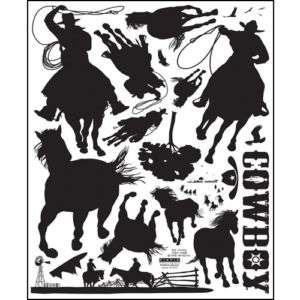 COWBOY Vinyl Wall Window Decor Art Mural Stickers PS192