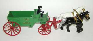 Iron Horse Drawn Sand & Gravel Wagon   Mint NO RESERVE (DP)