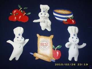 PILLSBURY DOUGHBOY APPLES WALLPAPER BORDER CUT OUTS