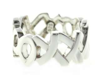 Paloma Picasso 925 Sterling Silver Love & Kisses Women Ring NR