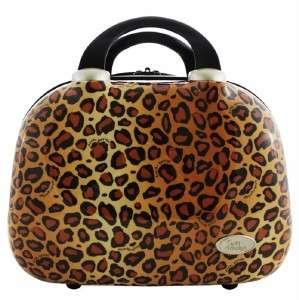 Brown Cheetah Leopard Travel Case Luggage Cosmetics Make Up Bag Jacki