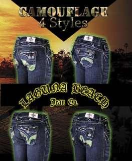Laguna Beach Jeans Womens CAMO salt sunset seal monarch