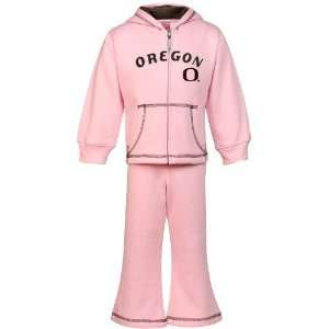 Nike Oregon Ducks Toddler Pink Full Zip Hoody & Sweatpants