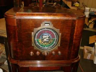 1936 ZENITH STRATOSPHERE 16 A 61 CONSOLE RADIO