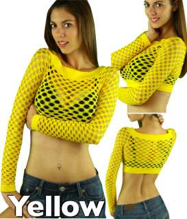 Pick Your Sexy Long Sleeve Fishnet Shirt Women Tops Blouse GoGo Dance