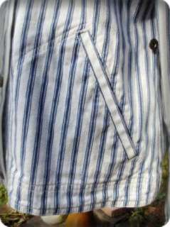 Vintage Nautical Ralph Lauren Denim Striped Jacket LRL 067 Lauren Jean