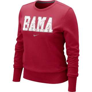 Nike Alabama Crimson Tide Womens Comfy Crew Fleece