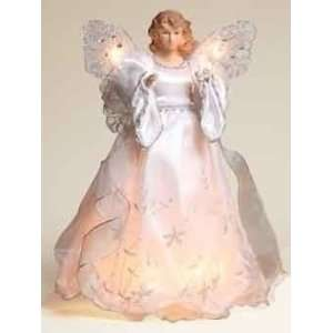 13 Elegant Silver and White Lighted Porcelain Angel Christmas Tree