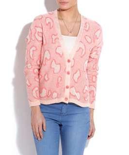 Pink Pattern (Pink) Pink Leopard Print Cardigan  248504479  New Look