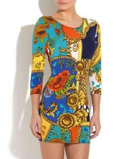 Multi Col) John Zack Animal Spot Printed Dress  255091099  New Look