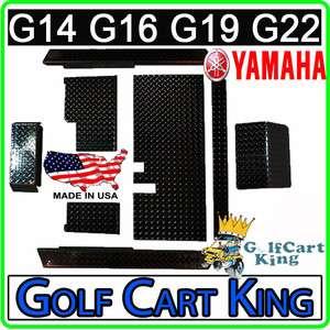 Yamaha Golf Cart Black Diamond Plate Accessories Kit