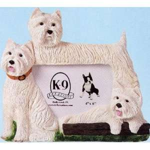 West Highland Terrier K 9 Kreations Picture Frame (White