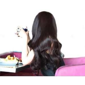 2012 Stylish Fashion Lady Long Curly DARK BROWN Wig Wave Full Wigs