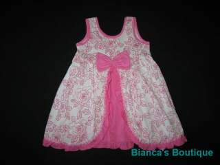 NEW ROSE FANCY RUFFLE Dress Girls Summer Clothes 24m