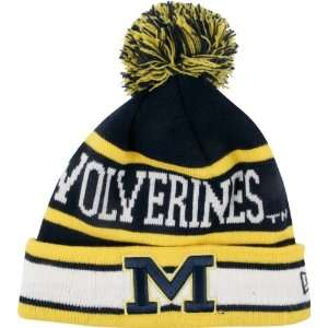 Michigan Wolverines Youth Navy Jr. New Era The Original II Cuffed Knit