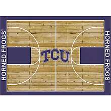 TCU Horned Frogs College Basketball 7x10 Rug from Miliken   NFLShop