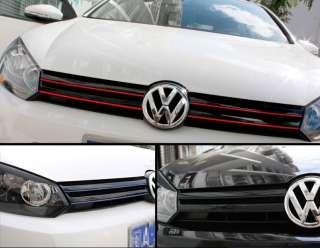 VW Golf 6 MK6 GTI R20 Grille Red Line Sticker Decal