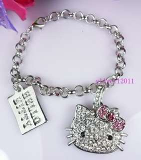 Hello Kitty Bracelet Rhinestone Fashion Jewelry SUPER CUTE