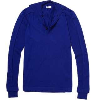 Clothing  Knitwear  Shawl collar  Silk and Wool Blend Sweater