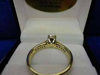 GOLD PRINCESS CUT 1/2 CT TW DIAMOND COMFORT FIT ENGAGEMENT RING, SZ 7