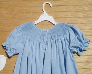 ROSALINA Blue Check Gingham Ready to Smock Bishop Dress Sz 6Y NEW