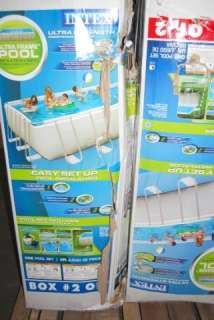 Intex 24 x 12 x 52 Ultra Frame Rectangular Swimming Pool 54977EG