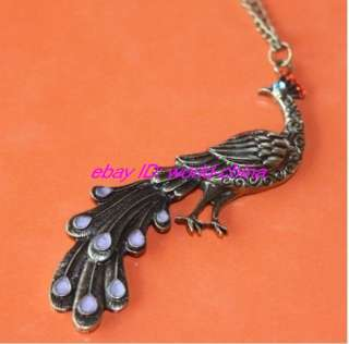 Fashion Retro Style Peacock Pendant necklace