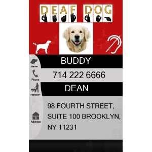 DEAF Dog ID Badge   1 Dogs Custom ID Badge   Design#1